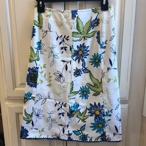 Grace gored floral skirt